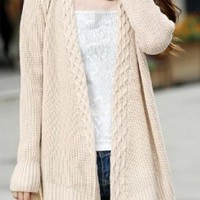 Off White Open Knit Sweater