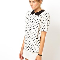 ASOS Top in Cat Print