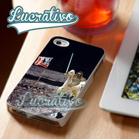 Sloth Llama Laser - iPhone 4/4s/5/5s/5c Case - Samsung Galaxy S2/S3/S4 Case - Black or White