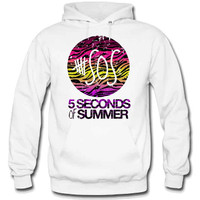 5 Seconds Of Summer Rainbow Zebra Print Hoodie - TeeeShop