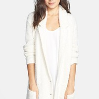 Frenchi® Textured Sweater Coat (Juniors) | Nordstrom