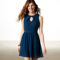 AE BEADED CUTOUT PARTY DRESS