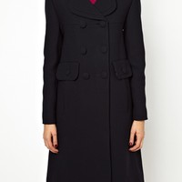 Orla Kiely Wool Double Breasted Coat