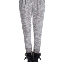 Heathered Bottom Scrunch Sweats - Gray