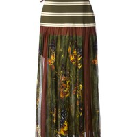 JEAN PAUL GAULTIER VAULT printed skirt