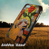 Beauty and Beast Stained Glass,Accessories,Case,Cell Phone,iPhone 5/5S/5C,iPhone 4/4S,Samsung Galaxy S3,Samsung Galaxy S4,Rubber,01/08/9/Gf
