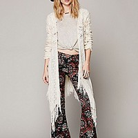 Fringe and Crochet Cardigan