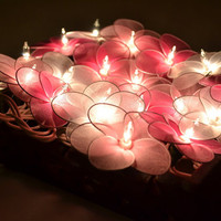Wedding Flower Lights Pink Tone Set Fairy String Lights for home decorate 20 Lights/Set