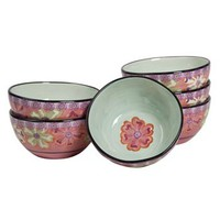 Kathy Davis Hearts & Flowers 6-pc. Cereal Bowl Set