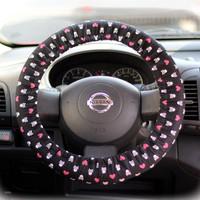 Steering-wheel-cover-for-wheel-car-accessories-Skulls-and-Hearts-Wheel-cover