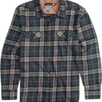 QUIKSILVER WATERMANS CANNONS BEACH LS FLANNEL