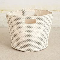 Cross-Dot Canvas Basket
