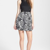dee elle Lace Inset Racerback Skater Dress (Juniors) | Nordstrom