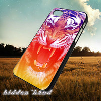 Roar Tiger face Color,Case,Cell Phone,iPhone 5/5S/5C,iPhone 4/4S,Samsung Galaxy S3,Samsung Galaxy S4,Rubber,12/07/1/Jk