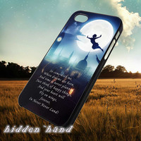 Disney Peterpan Quote,Case,Cell Phone,iPhone 5/5S/5C,iPhone 4/4S,Samsung Galaxy S3,Samsung Galaxy S4,Rubber,13/07/5/Ar