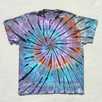 XL Tie Dye Shirt Pastel Inverted Rainbow Spiral