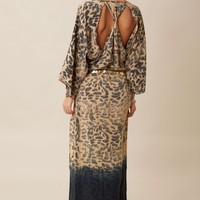OPEN BACK KIMONO DRESS