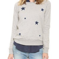 Allover Stars Long Sleeve Pullover