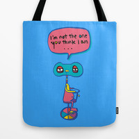 Who am I? Tote Bag by PINT GRAPHICS