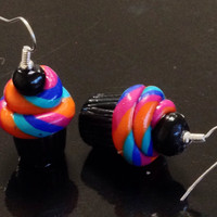 Cupcake Earrings made with Sculpey clay