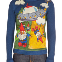 Gnome Away From Home Men's Sweater | Mod Retro Vintage Mens SS Shirts | ModCloth.com