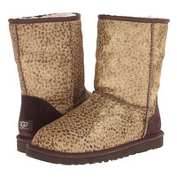 UGG Classic Short Metallic Leopard Calf Hair Leopard Metallic Calf Hair - Zappos.com Free Shipping BOTH Ways
