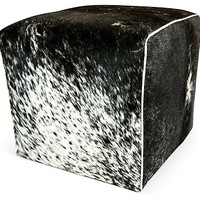 Waterfall Ottoman, Salt & Pepper