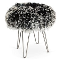 Curly Hairpin Stool, Black