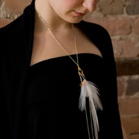 NOEMIAH - Precious Cloud - Feather Necklace