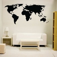 Newclew world map wall decal Vinyl Art Sticker Home Décor Large
