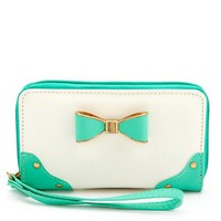 BOW-FRONT COLOR BLOCK WRISTLET
