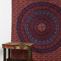 Magical Thinking Single Medallion Tapestry- Red Multi One