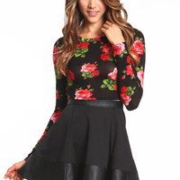 MIDNIGHT FLORAL CROP TOP