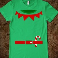 santa clause helper Elf woman girl fitted Tee Tshirt