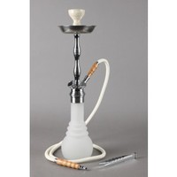 Kaya Shisha - Hookah Pipe - LED 2.0 - Frosted Glass Base - Grasscity.com
