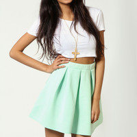 Leanne Box Pleat Scuba Skater Skirt