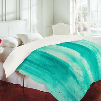 DENY Designs Home Accessories | Madart Inc. Modern Dance Aqua Passion Duvet Cover
