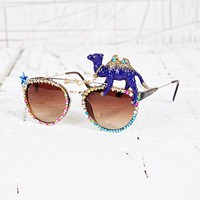 Spangled Camel Rim Sunglasses at Urban Outfitters