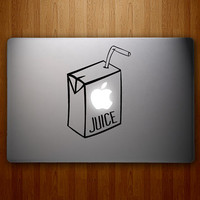 Apple Juice Decal - Apple Juice Sticker - MacBook Decal - Macbook Vinyl Decal