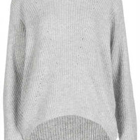 KNITTED MIX RIB JUMPER