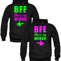She's My Weirdo Hoodies - TeeeShop