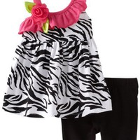 Sweet Heart Rose Baby-girls Infant Zebra Ruffle Bike Short Set