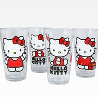 Hello Kitty 4 Piece Glasses Set: Classic