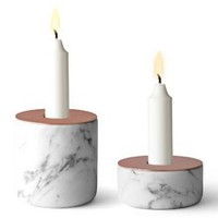 Chunk Candleholder in Mable and Copper by Menu