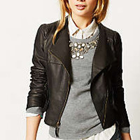 Mysa Leather Moto Jacket