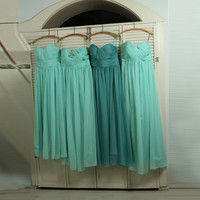 mix match style bridesmaid dresses / Romantic /teal blue / dresses /Fairy / Bridesmaid / Party dress/ wedding dress/ Bride