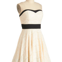 Perfect in Petals Dress in Ivory | Mod Retro Vintage Dresses | ModCloth.com