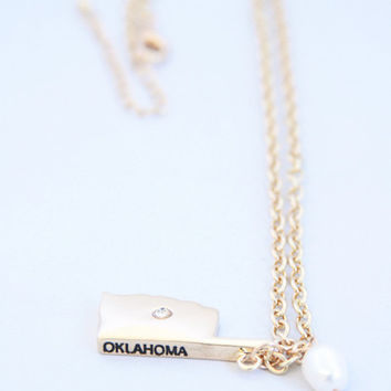 Gold & Pearl Oklahoma Necklace