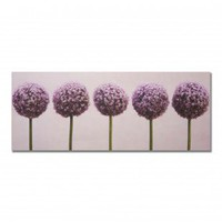Graham  Brown Row of Alliums Printed Canvas Art - 16 X 40 - 40-234 - All Wall Art - Wall Art  Coverings - Decor