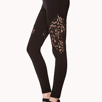 Lace Panel Leggings